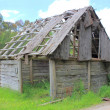 Old and dilapidated settlers shack — Stock Photo