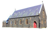 Old stone church isolated — Stock Photo