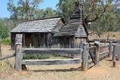 Historical Australian settlers wooden school house — Stock Photo