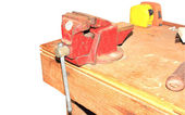 Carpenters bench vice — Stockfoto