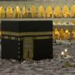 Pilgrims circumambulate the Kaaba at Masjidil Haram in Makkah, Saudi Arabia. Muslims all around the world face the Kaaba during prayer time. — Stock Photo #31157507