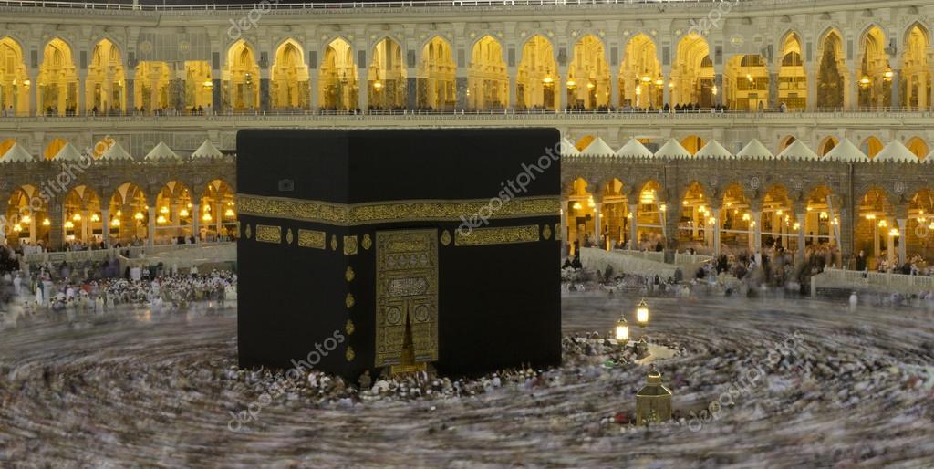 Pilgrims circumambulate the Kaaba at Masjidil Haram in Makkah ...