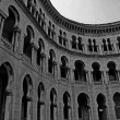 Stock Photo: Moorish architecture in black and white