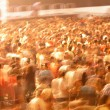 Crowd in blur motion — Stock Photo