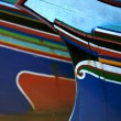 Colorful wooden boats — Stock Photo