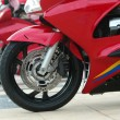 Stock Photo: Red motorcycle