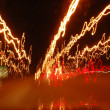 Haywire light trails — Stock Photo