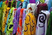 Renkli batik kumaş — Stok fotoğraf