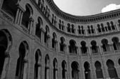 Moorish architecture in black and white — Stock Photo