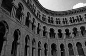 Moorish architecture in black and white — Stock Photo