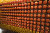 Hundreds of lanterns — Stock Photo
