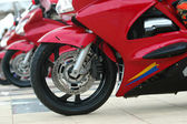 Red motorcycle — Stockfoto