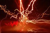 Drunter und drüber licht wege — Stockfoto