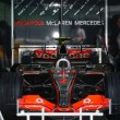 Vodafone McLaren Mercedes MP4-22 - Lewis Hamilton — Stock Photo