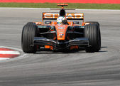 Etihad Aldar Spyker F1 Team F8-VII - Adrian Sutil — Stock Photo
