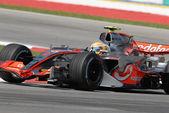 Vodafone McLaren Mercedes MP4-22 - Lewis Hamilton — Stock fotografie
