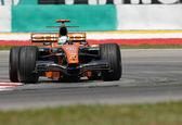 Etihad Aldar Spyker F1 Team F8-VII - Adrian Sutil — Stock Photo