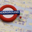 Tube metro line London — Stock Photo