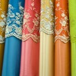 Colorful cotton fabrics on sale — ストック写真
