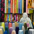 Stockfoto: Colorful cotton fabrics on sale