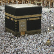 Stock Photo: Muslims circumambulate Kaabin Mecca, Saudi Arabia.
