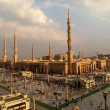 Stock Photo: Nabawi Mosque, Medina, Saudi Arabiin evening.
