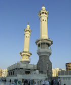 Two of the minarets at Haram Mosque in Mecca. — Stock Photo