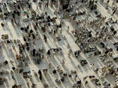 View from third floor of Haram Mosque where pilgrims wait for praying — Stock Photo
