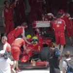 2009 Felipe Massa at Malaysian F1 Grand Prix — Stock Photo