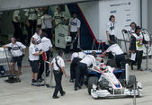 2009 Robert Kubica at Malaysian F1 Grand Prix — Stock Photo