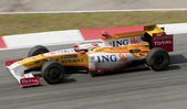 2009 fernando alonso in maleisische f1 grand prix — Stockfoto