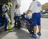 2009 Valentino Rossi of Fiat Yamaha Team at MotoGP Official Test — 图库照片