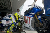 2009 Valentino Rossi of Fiat Yamaha Team at MotoGP Official Test — Стоковое фото