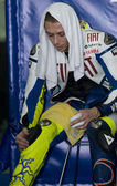 2009 Valentino Rossi of Fiat Yamaha Team at MotoGP Official Test — ストック写真