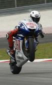 2009 Spanish Jorge Lorenzo of Fiat Yamaha Team at MotoGP Officia — Stock Photo