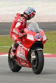 2009 Ducati Marlboro Yamaha MotoGP rider Casey Stoner — Stock Photo