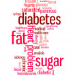 Diabetes sickness info text graphics and arrangement word clouds concept — Stok Fotoğraf #32159213