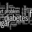 Diabetes sickness info text graphics and arrangement word clouds concept — Stock Photo