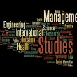 Graduate and post graduate info text graphics and arrangement concept — Stock Photo
