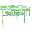 Islamic banking or financing concept and lingo info text graphics and arrangement word clouds illustration concept — Stock Photo #32159575
