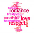 Respect, love, romance info text graphics and arrangement concept — Stock Photo