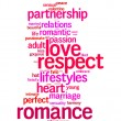 Respect, love, romance info text graphics and arrangement concept — Stock Photo #32159643
