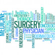 Stock Photo: Medical specialist professionals info text graphics and arrangement concept