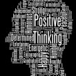 Positive thinking info text graphics and arrangement word clouds — Foto Stock
