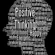 Positive thinking info text graphics and arrangement word clouds — ストック写真