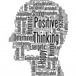 Positive thinking info text graphics and arrangement word clouds — Foto de Stock
