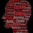 Positive thinking info text graphics and arrangement word clouds — Photo