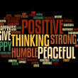 Positive words info text graphics and arrangement concept — Foto de Stock