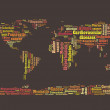 World diseases and sickness info text graphics and arrangement word clouds planet earth concept — Stock Photo #32159901