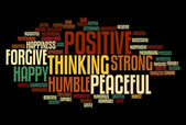 Positive words info text graphics and arrangement concept — Stock Photo